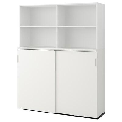 GALANT Storage combination w sliding doors, white, 160x200 cm