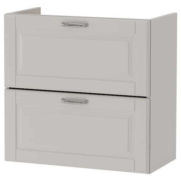 GODMORGON Wash-stand with 2 drawers, Kasjön light grey, 60x32x58 cm