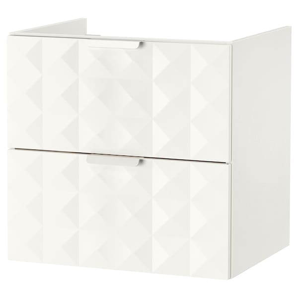 GODMORGON Wash-stand with 2 drawers, Resjön white, 60x47x58 cm