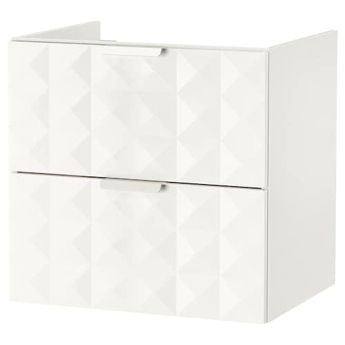GODMORGON wash-stand with 2 drawers Resjön white 60 cm 47 cm 58 cm