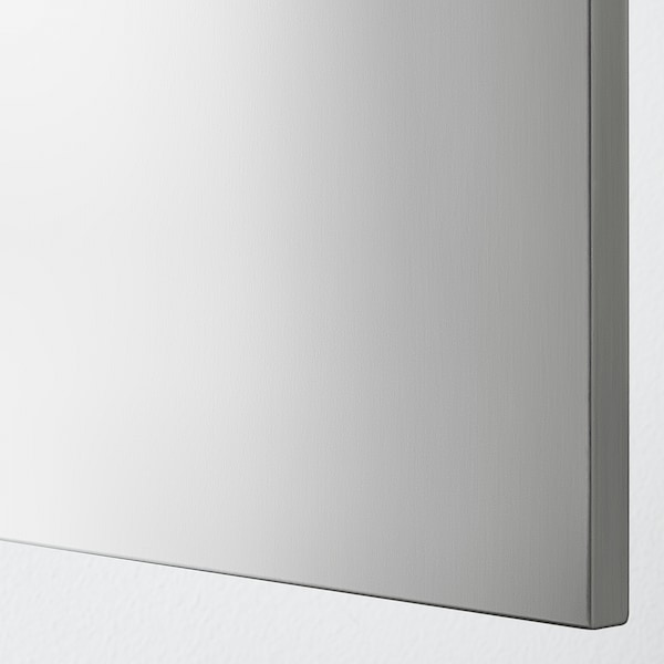 GREVSTA Cover panel, stainless steel, 39x80 cm