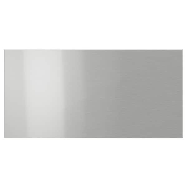 GREVSTA drawer front stainless steel 39.7 cm 20.0 cm 40.0 cm 19.7 cm 1.8 cm