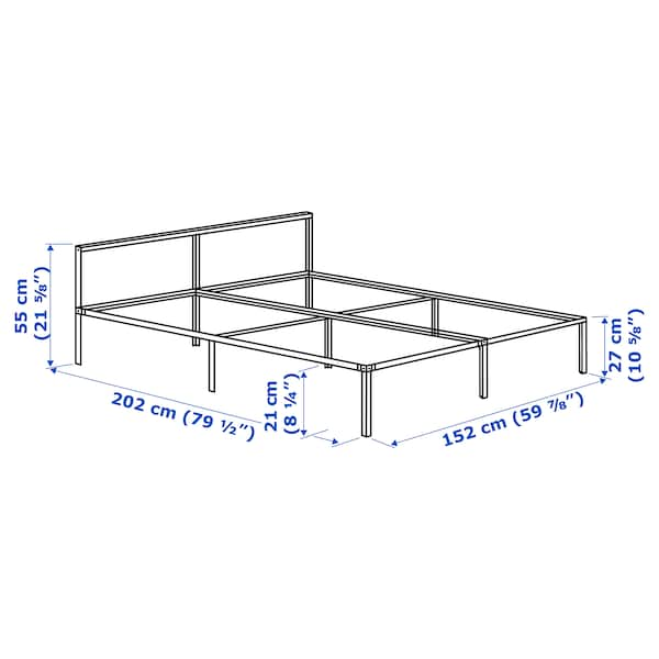 GRIMSBU bed frame green 202 cm 152 cm 55 cm 27 cm 55 cm 21 cm 200 cm 150 cm