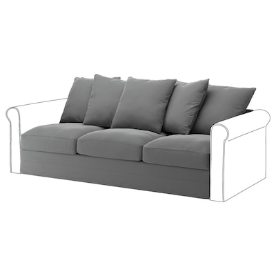 GRÖNLID 3-seat section, Ljungen medium grey