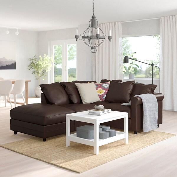 GRÖNLID corner sofa, 3-seat with open end/Kimstad dark brown 104 cm 98 cm 235 cm 182 cm 7 cm 18 cm 68 cm 60 cm 49 cm