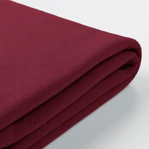 GRÖNLID cover for footstool with storage Ljungen dark red