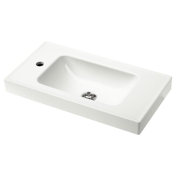 HAGAVIKEN Single wash-basin, white, 63 cm