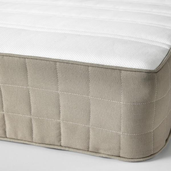 HAMARVIK Sprung mattress, medium firm/dark beige, 150x200 cm