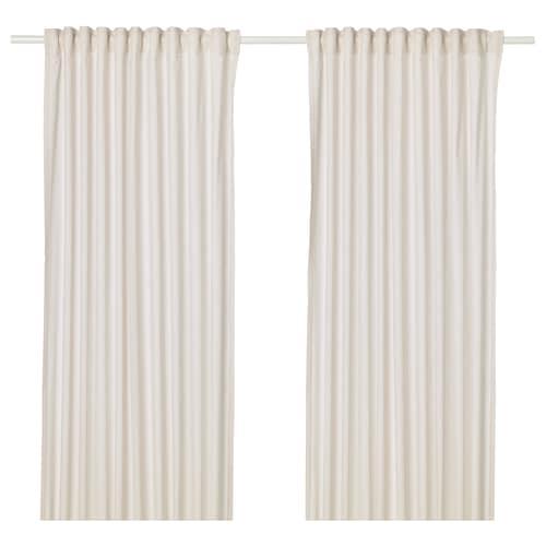 HANNALILL curtains, 1 pair beige 250 cm 145 cm 1.00 kg 3.63 m² 2 pieces