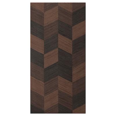 HASSLARP Door, brown patterned, 40x80 cm