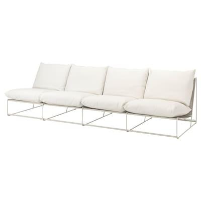 HAVSTEN 4-seat sofa, in/outdoor, without armrests/beige, 326x94x90 cm