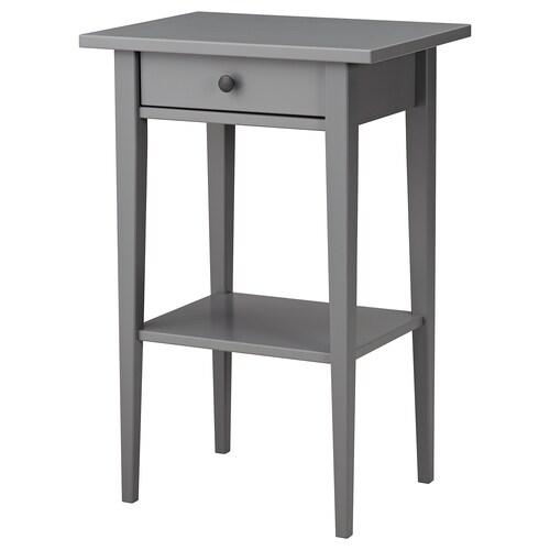 HEMNES bedside table grey 46 cm 35 cm 70 cm 23 cm