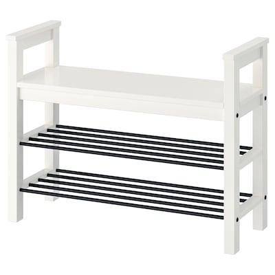HEMNES Bench with shoe storage, white, 85x32 cm