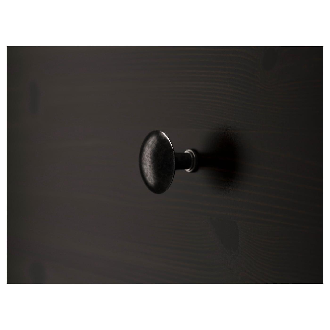 HEMNES Chest of 5 drawers, black-brown, 58x131 cm