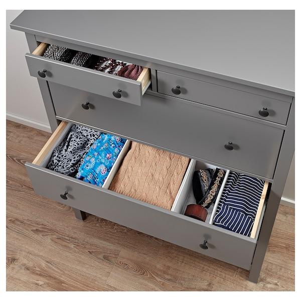 HEMNES chest of 6 drawers grey 108 cm 50 cm 131 cm