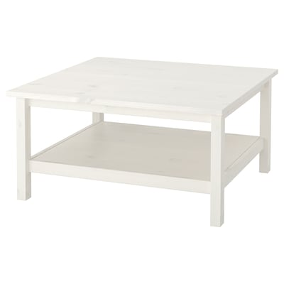 HEMNES Coffee table, white stain, 90x90 cm