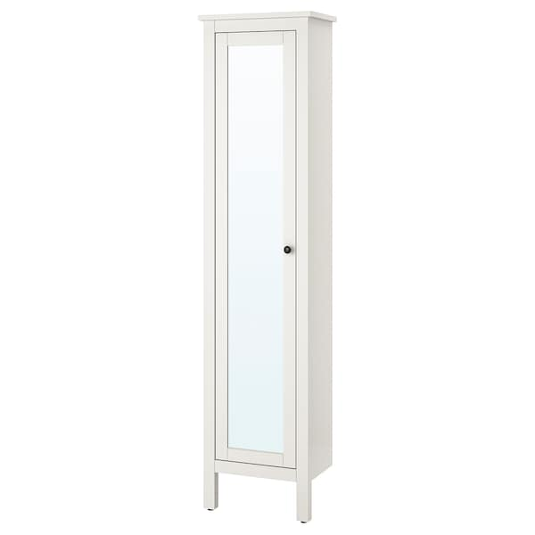 HEMNES High cabinet with mirror door, white, 49x31x200 cm