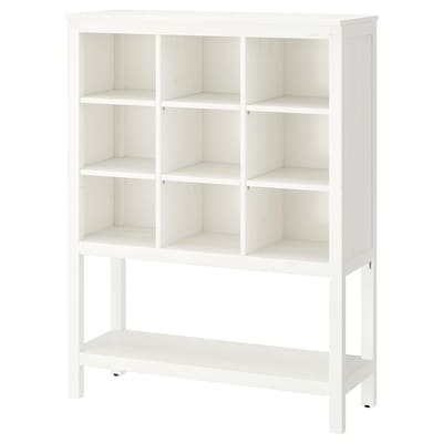 HEMNES Storage unit, white stained, 99x130x37 cm