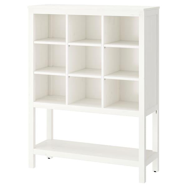 HEMNES storage unit white stained 99 cm 37 cm 130 cm