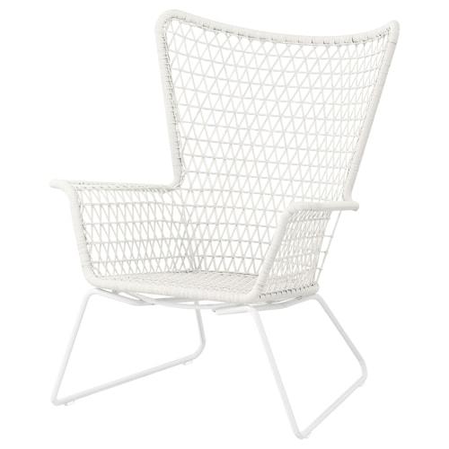 HÖGSTEN armchair, outdoor white 74 cm 78 cm 93 cm 44 cm 50 cm 33 cm