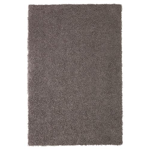 HÖJERUP rug, high pile grey-brown 180 cm 120 cm 8 mm 2.16 m² 1260 g/m² 570 g/m² 6 mm 26 mm
