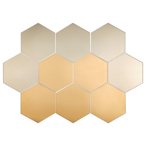 HÖNEFOSS mirror 18 cm 21 cm 10 pieces