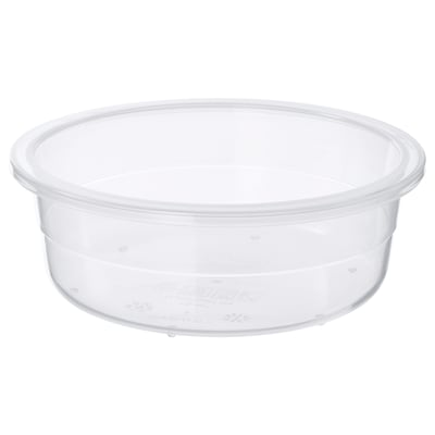 IKEA 365+ Food container, round/plastic, 450 ml