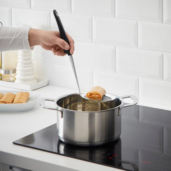 IKEA 365+ HJÄLTE Deep-fry skimmer, stainless steel/black