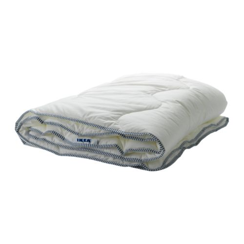 IKEA 365+ MYSA Quilt, warmth rate 2   A thin, lightweight cellulose and synthetic quilt for you who often feel warm and prefer a cool quilt.