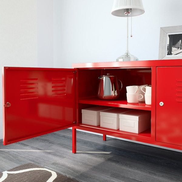 IKEA PS Cabinet, red, 119x63 cm