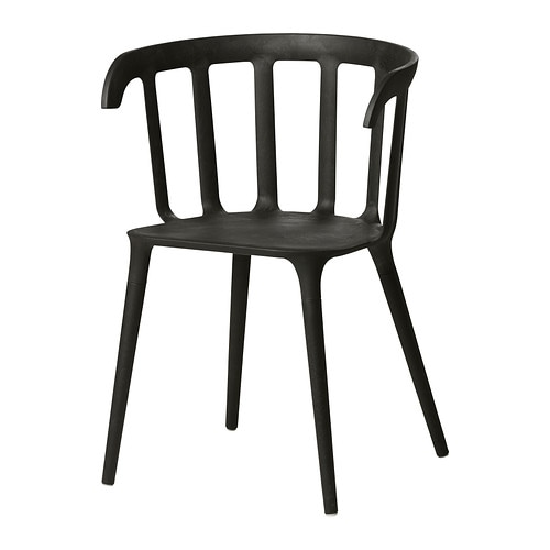 IKEA PS 2012 Chair with armrests   You sit comfortably thanks to the armrests.  You sit comfortably thanks to the shaped back.