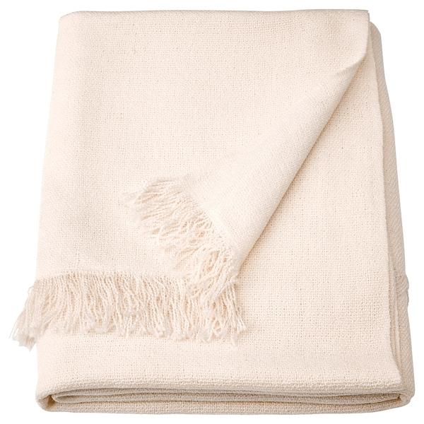INGRUN Throw, white, 130x170 cm