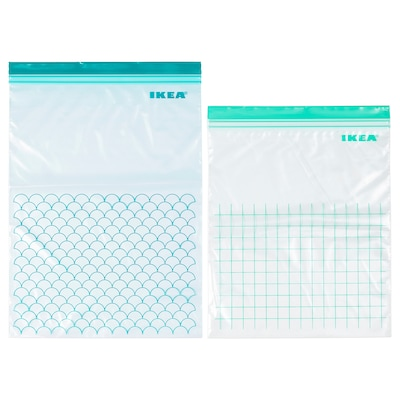 ISTAD Resealable bag, turquoise/light turquoise