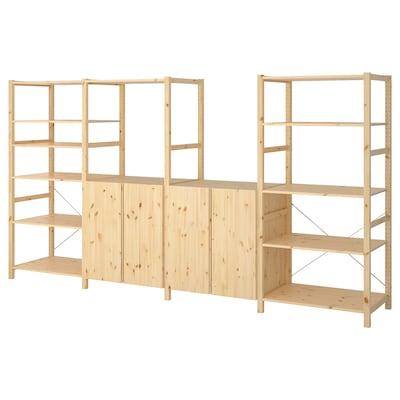 IVAR 4 sections/shelves, pine, 344x50x179 cm