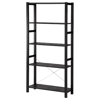 IVAR Shelving unit, black, 89x30x179 cm