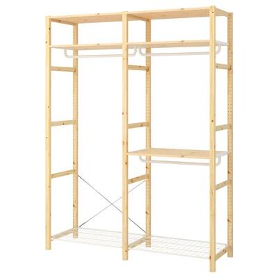IVAR Shelving unit with clothes rail, 174x50x226 cm