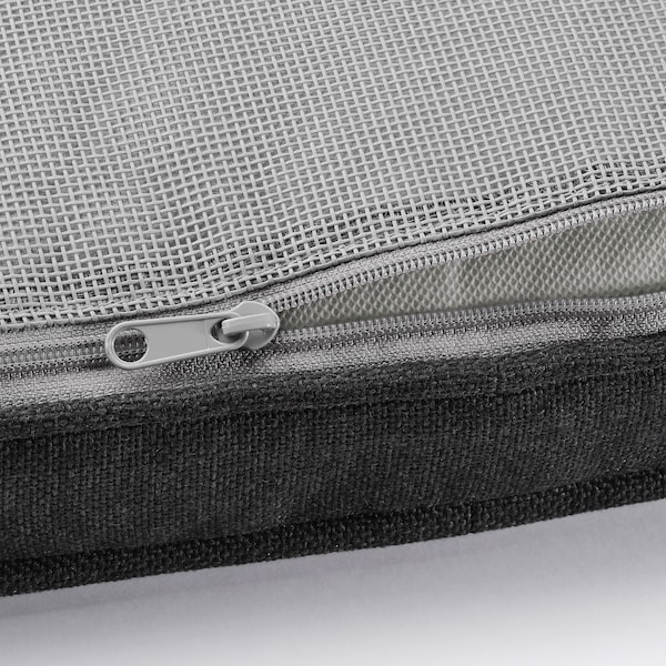 JÄRPÖN/DUVHOLMEN Chair cushion, outdoor, anthracite, 50x50 cm