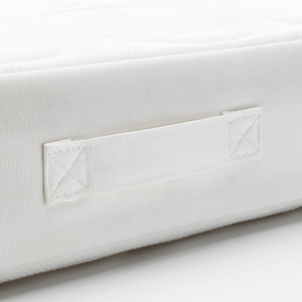 JÄTTETRÖTT Pocket sprung mattress for cot, white, 60x120x11 cm