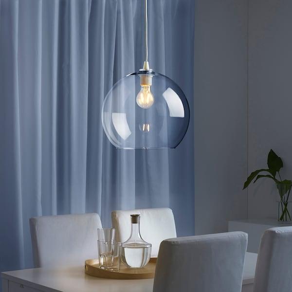 JAKOBSBYN Pendant lamp shade, clear glass, 30 cm