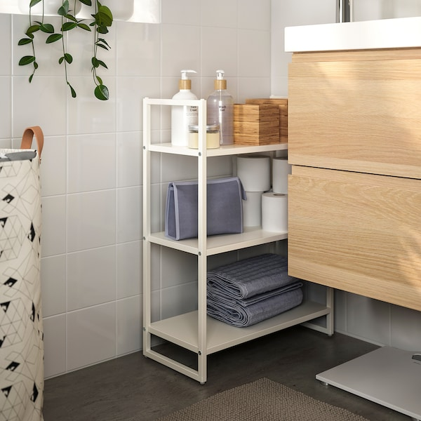 JONAXEL Shelving unit, white, 25x51x70 cm