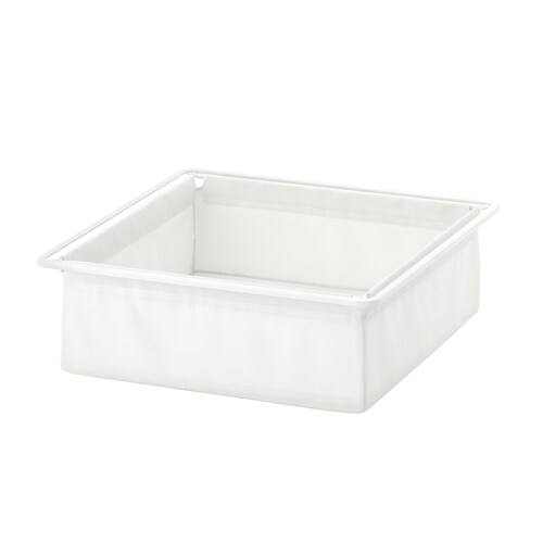 JONAXEL textile basket white 50 cm 51 cm 15 cm 7 kg 27 l