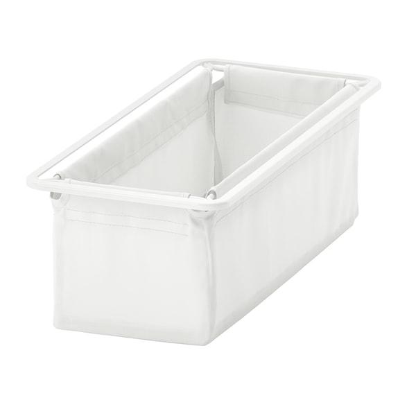 JONAXEL textile basket white 25 cm 51 cm 15 cm 3 kg 11 l