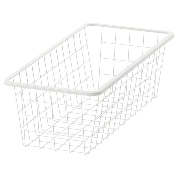 JONAXEL Wire basket, white, 25x51x15 cm
