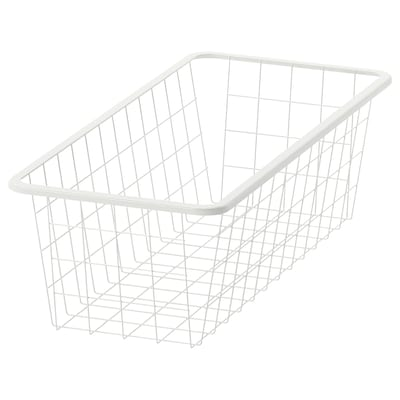 JONAXEL Wire basket, white, 25x51x15 cm