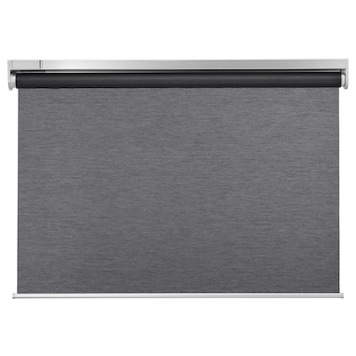 KADRILJ Roller blind, wireless/battery-operated grey, 80x195 cm