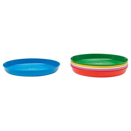 KALAS plate multicolour 19 cm 6 pieces