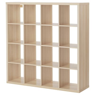 KALLAX Shelving unit, white stained oak effect, 147x147 cm