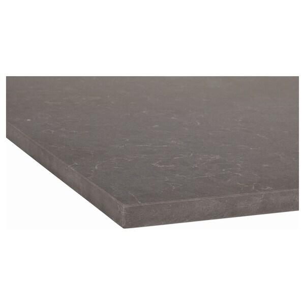 KASKER Custom made worktop, matt dark grey/marble effect quartz, 1 m²x2.0 cm