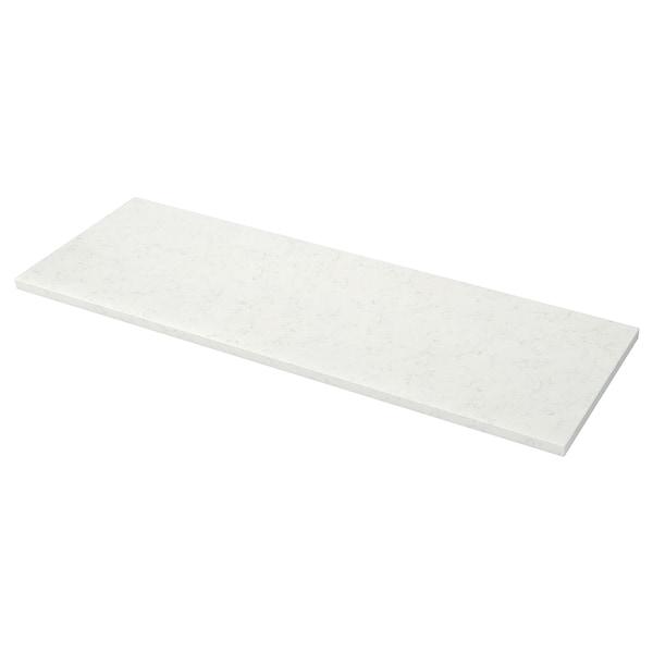 KASKER Custom made worktop, white marble effect/quartz, 1 m²x4.0 cm