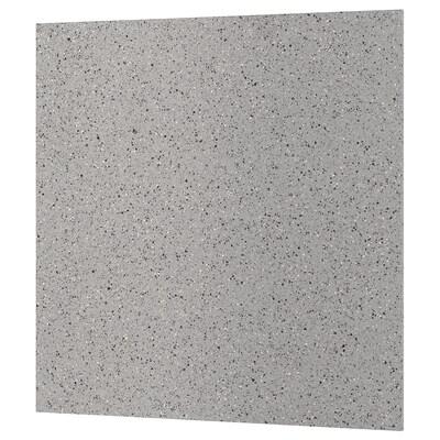 KLINGSTA Custom made wall panel, grey/black stone effect/acrylic, 1 m²x1.2 cm